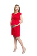 Kleid Erua rot, Model Kasia (1,70 m, Gr.34 im 8. Monat schwanger)