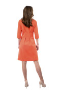 Kleid Aurora orange, Model Rosie (1,56m, Gr.32petite)