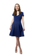 Kleid Fortuna Cocktail blau, Model Rosie (1,56 m, Gr.30 petite)