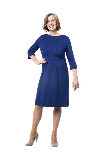 Kleid Aurora blau, Model Susanne (1,80m, Gr. 42long)