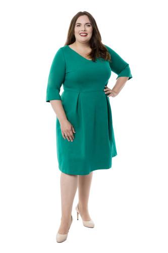 Kleid Fortuna grün, Model Jasmin (1,75 m, Gr.50 long)