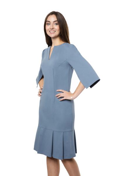 Kleid Luna blaugrau, Model Katharina (1,70 m, Gr. 36)