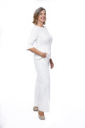 Hose Sedna weit weiß, Model Susanne (1,80 m, Gr.42 long)