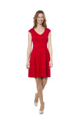 Kleid Fortuna Cocktail rot, Model Tanja (1,74 m, Gr. 34 )