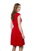 Kleid Fortuna Cocktail rot, Model Tanja (1,74 m, Gr. 34)