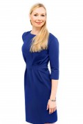 Kleid Aurora blau, Model Nadja (1,70, Gr. 34)