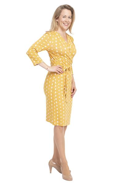 Kleid Frejya curry, Model Sabine (1,66 m, Gr.36)