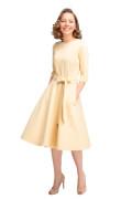 Kleid Maya gelb, Model Rosie (1,56 m, Gr. 30 petite)