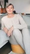 Jeggings Sedna sweat beige, Model Susanne (1,80 m, Gr. 42 long)