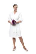Kleid Epona weiß, Model Susanne (1,80 m, Gr. 42 long)