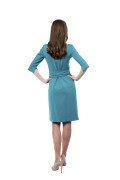 Kleid Epona smaragdgrün,Model Rosie (1,56m, Gr.32 petite)