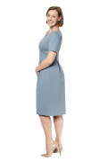 Kleid Fortuna blau-grau, Model Susanne (1,80m, Gr.40 long)