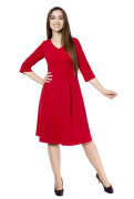 Kleid Fortuna rot, Model Katharina (1,70m,Gr.34)